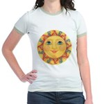 Sun Face #3 - Summer Jr. Ringer T-Shirt