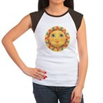 Sun Face #3 - Summer Women's Cap Sleeve T-Shirt