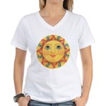Sun Face #3 - Summer Women's V-Neck T-Shirt