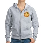 Sun Face #3 - Summer Women's Zip Hoodie