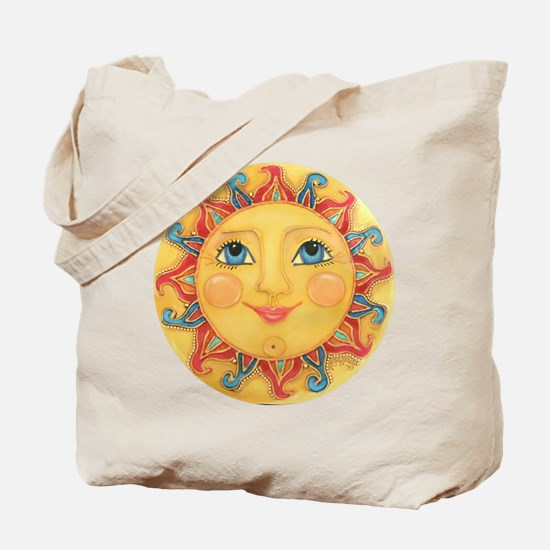 Sun Face #3 - Summer Tote Bag