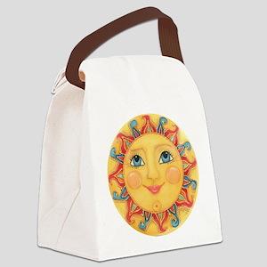 Sun Face #3 - Summer Canvas Lunch Bag
