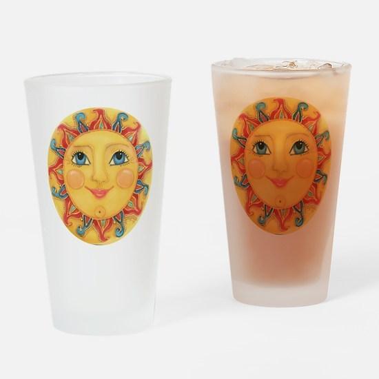 Sun Face #3 - Summer Drinking Glass