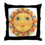 Sun Face #3 - Summer Throw Pillow