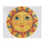 Sun Face #3 - Summer Throw Blanket