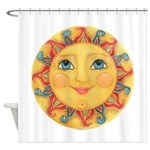 Sun Face #3 - Summer Shower Curtain