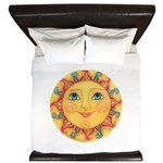Sun Face #3 - Summer King Duvet