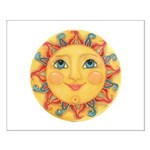 Sun Face #3 - Summer Small Poster