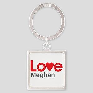 I Love Meghan Square Keychain