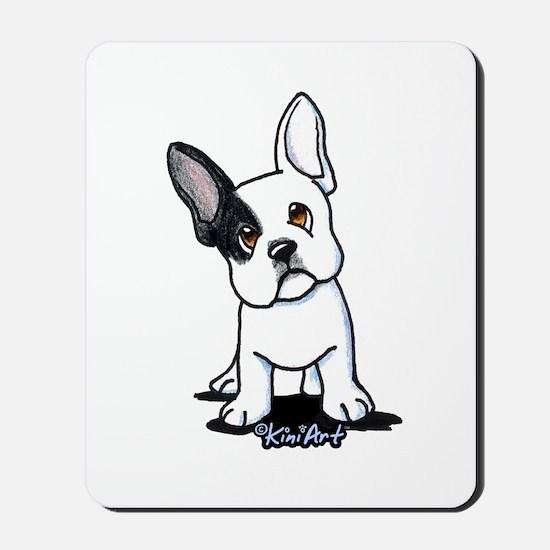 B/W French Bulldog Mousepad