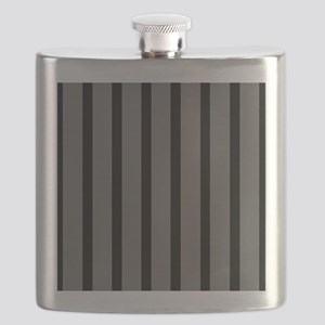 Black and Gray Striped Flask