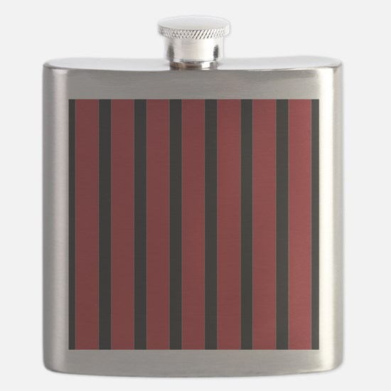 Red and Black Stripes Flask