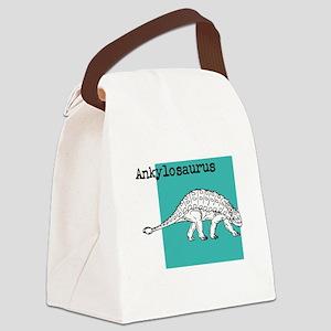 Ankylosaurus Canvas Lunch Bag