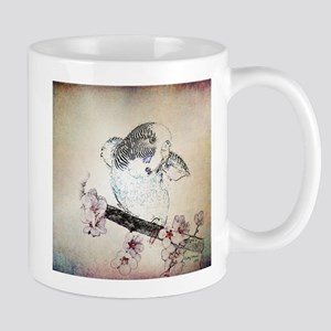 Parakeet on Branch - Mug