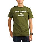 Religion Equals War Atheism Organic Men's T-Shirt