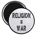 Religion Equals War Atheism Magnet