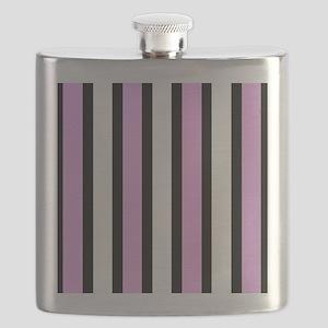 Modern Black Stripes Flask