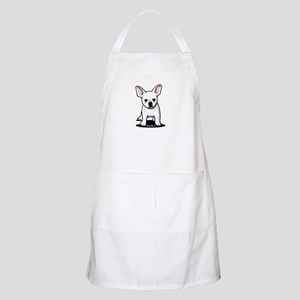 White Frenchie Apron