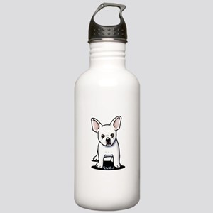 White Frenchie Stainless Water Bottle 1.0L