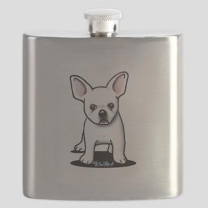 White Frenchie Flask