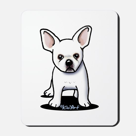 White Frenchie Mousepad