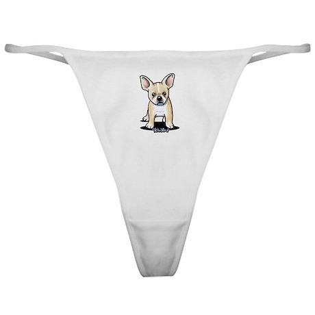 B/W French Bulldog Classic Thong
