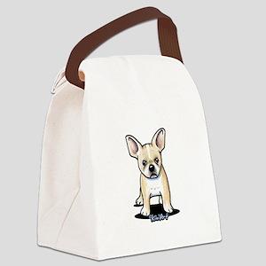 B/W French Bulldog Canvas Lunch Bag