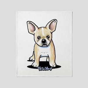B/W French Bulldog Throw Blanket