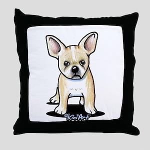 B/W French Bulldog Throw Pillow