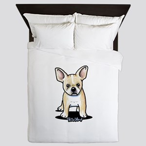 B/W French Bulldog Queen Duvet