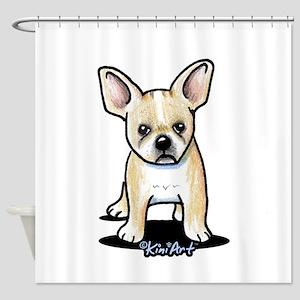 B/W French Bulldog Shower Curtain
