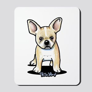 B/W French Bulldog Mousepad