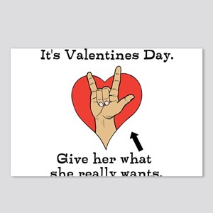 Naughty Valentines Day Postcards (Package of 8)