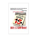 Buy a Gun Day Mini Poster Print