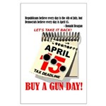 Buy a Gun Day Large Poster