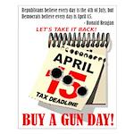 Buy a Gun Day Small Poster