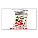 Buy a Gun Day Sticker (Rectangle 10 pk)