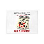 Buy a Gun Day 5'x7'Area Rug