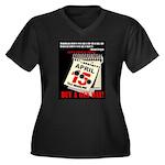 Buy a Gun Da Women's Plus Size V-Neck Dark T-Shirt