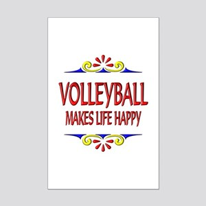 Volleyball Happy Life Mini Poster Print