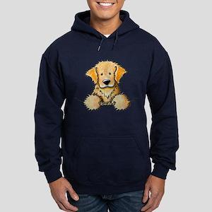 Pocket Golden Retriever Hoodie (dark)