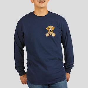 Pocket Golden Retriever Long Sleeve Dark T-Shirt