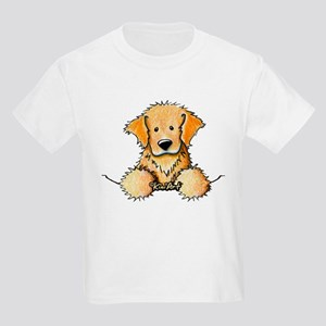 Pocket Golden Retriever Kids Light T-Shirt
