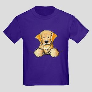 Pocket Golden Retriever Kids Dark T-Shirt