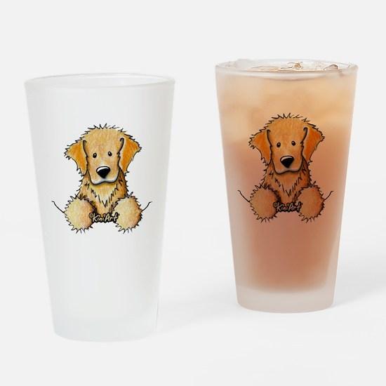 Pocket Golden Retriever Drinking Glass