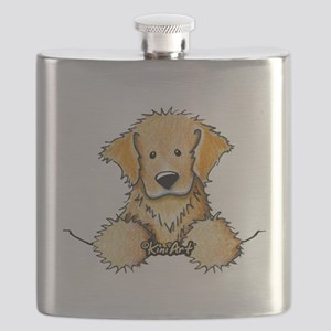 Pocket Golden Retriever Flask