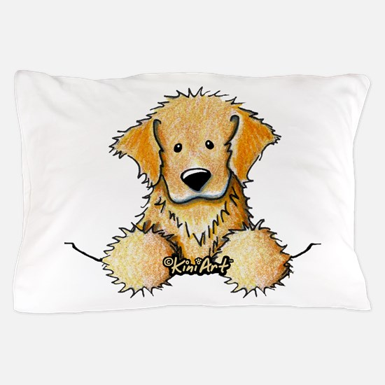 Pocket Golden Retriever Pillow Case