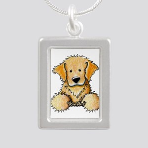 Pocket Golden Retriever Silver Portrait Necklace