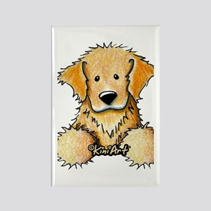 Pocket Golden Retriever Rectangle Magnet