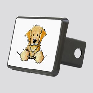 Pocket Golden Retriever Rectangular Hitch Cover